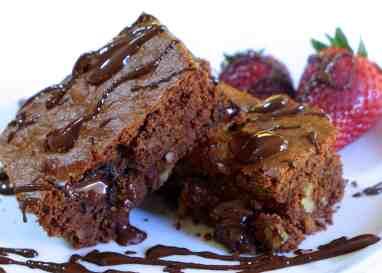 Lenten Chocolate Brownies