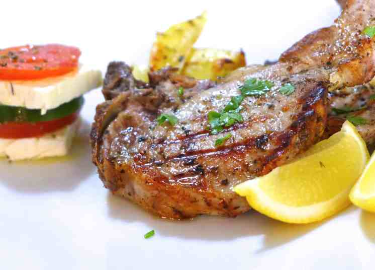 Greek Pork Chops recipe with roast Potatoes (Brizola sto Fourno)-2