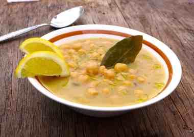 Greek Chickpea soup recipe (Revithia soupa)