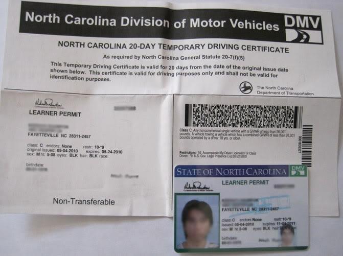 DMV-NC-Learner-Permit