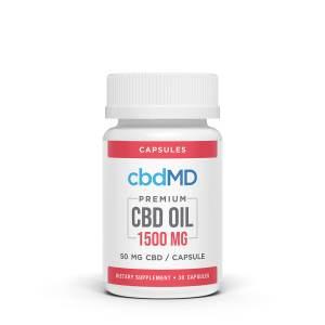 cbdMD 1500mg capsules