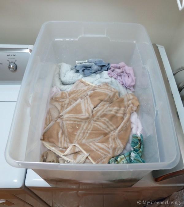 soaking towels