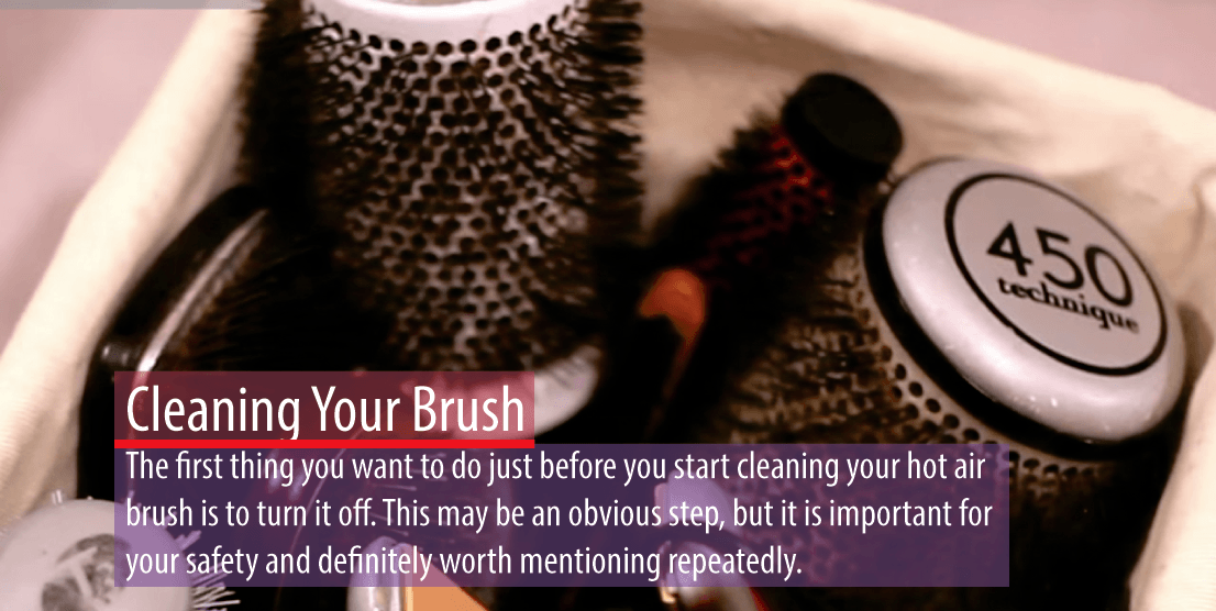 Best hair brush dryer reviews - cleaning your brush