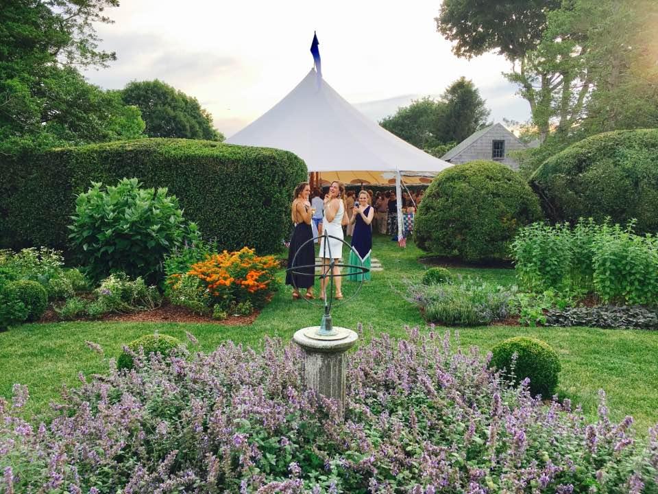 event attendees in enjoying the garden - Halsey Garden