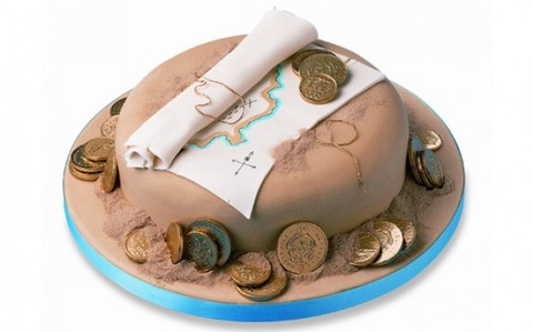 Fun Treasure Map birthday cake pictures for Little Pirates