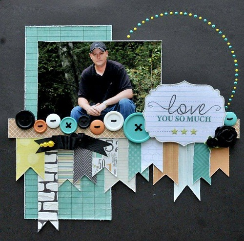 Buttons Scrapbook Ideas
