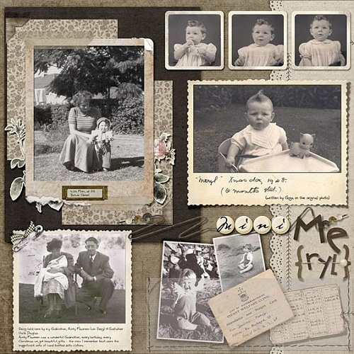 Vintage Layout Scrapbook Ideas