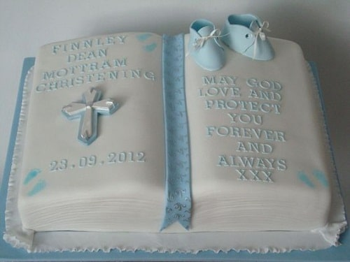Bible Christening Cakes for Boys