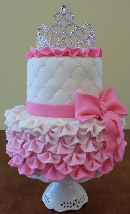 Princess Gown Birthday Cakes for Girls