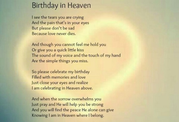 Birthday Wishes In Heaven For Son