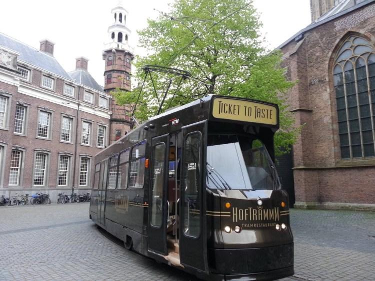 bijzondere restaurants in voertuigen: de Hofftrammm