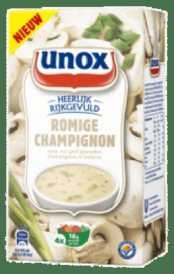 Nutteloze pakjes en zakjes: Unox rijkgevulde champignonsoep