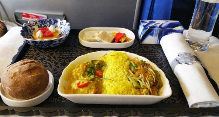 eten in het vliegtuig: klm