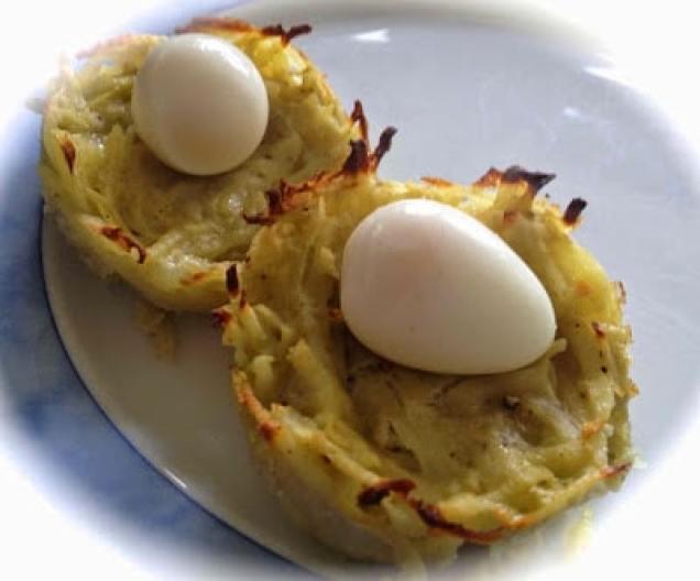 aardappelnestje met kwarteleitjes