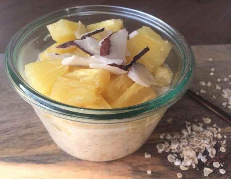Pina colada overnight oates