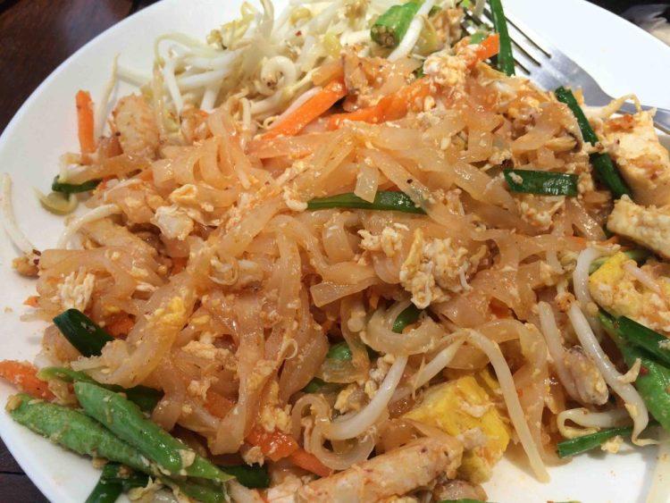 Thaise keuken: pad thai krab