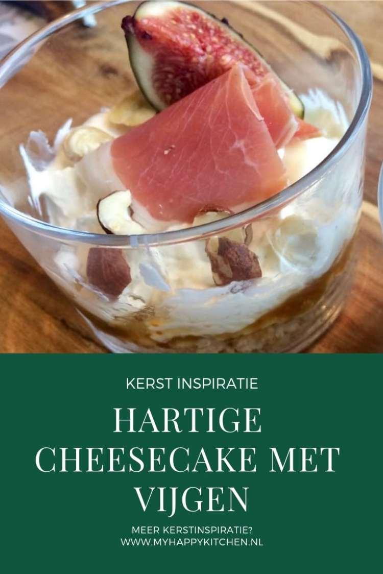 Hartige cheesecake met vijgen