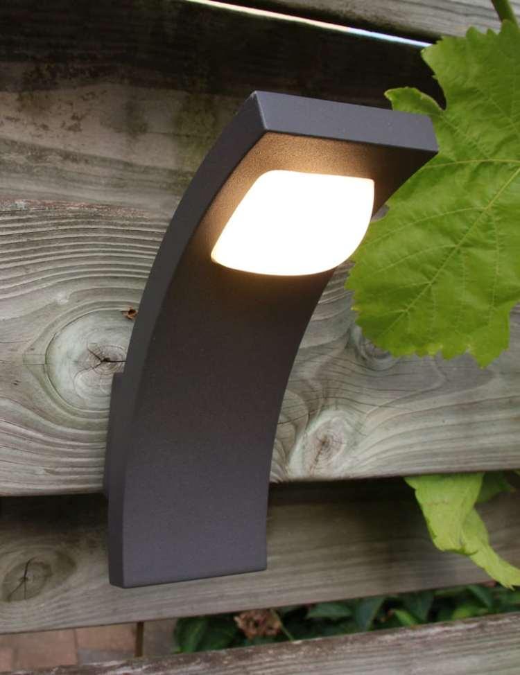 Wandlamp buiten zwart