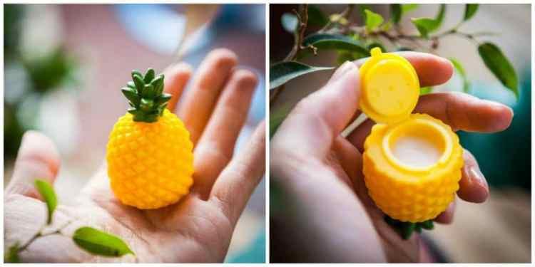 cadeautips voor foodies: lipbalm ananas