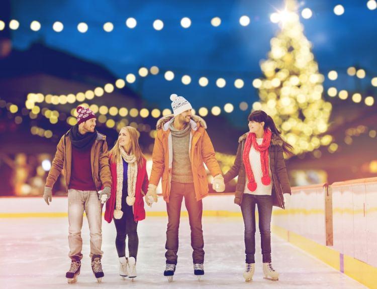 schaatsen en kerstshoppen