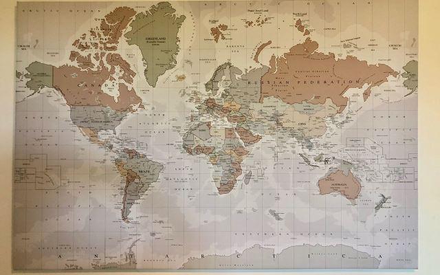Een wereldkaart, het perfecte cadeau!