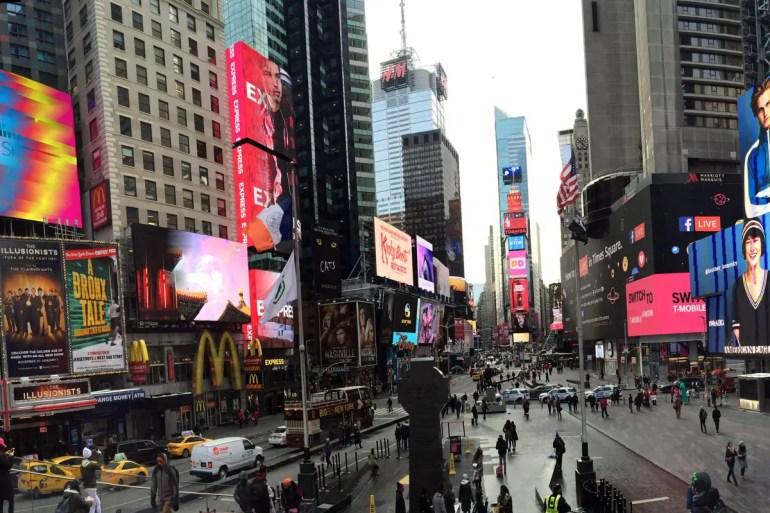 Das glitzernde Stadt- und Theaterzentrum: der Times Square