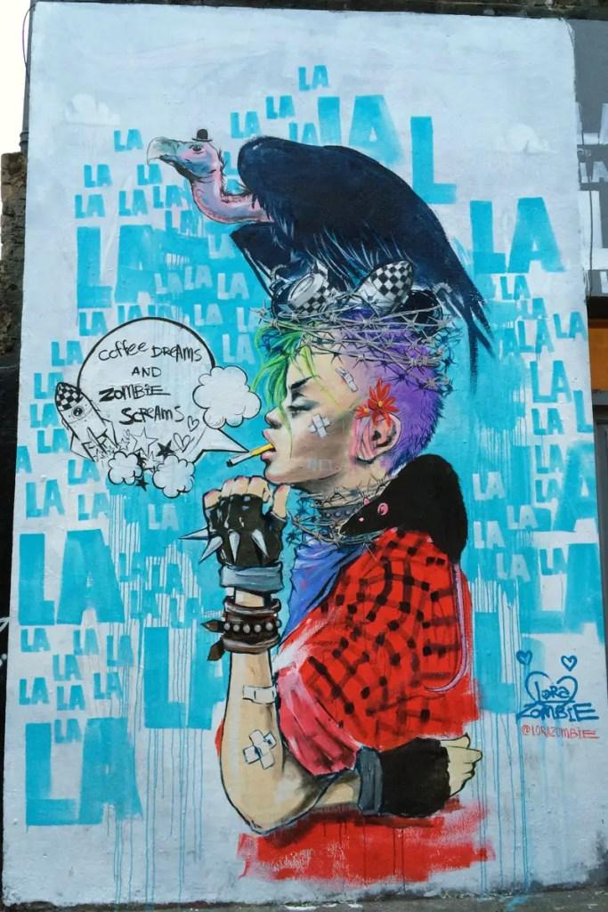 In der Hanbury Street ist ein Streetartkunstwerk am nächsten