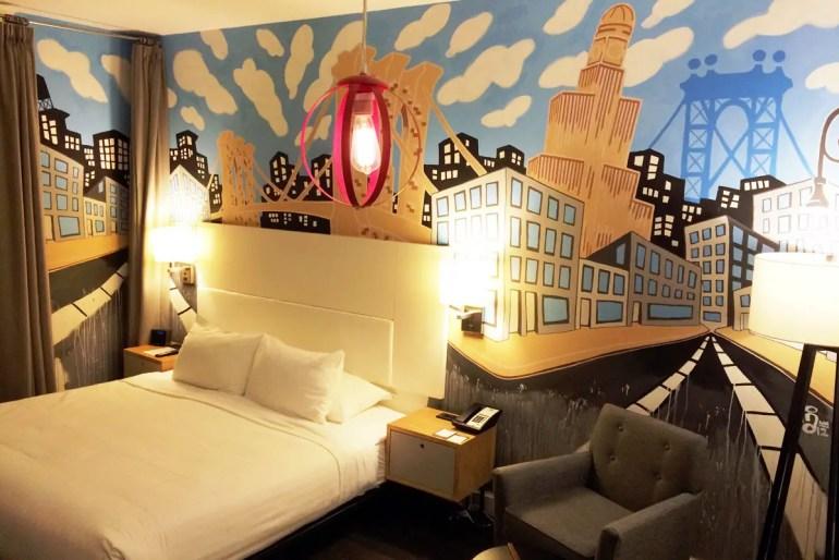 Die Zimmer im NU Hotel wurden von Streetartkünstlern gestaltet