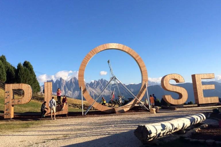 Neue Attraktion: der Plose Looping mit Blick auf die Dolomiten