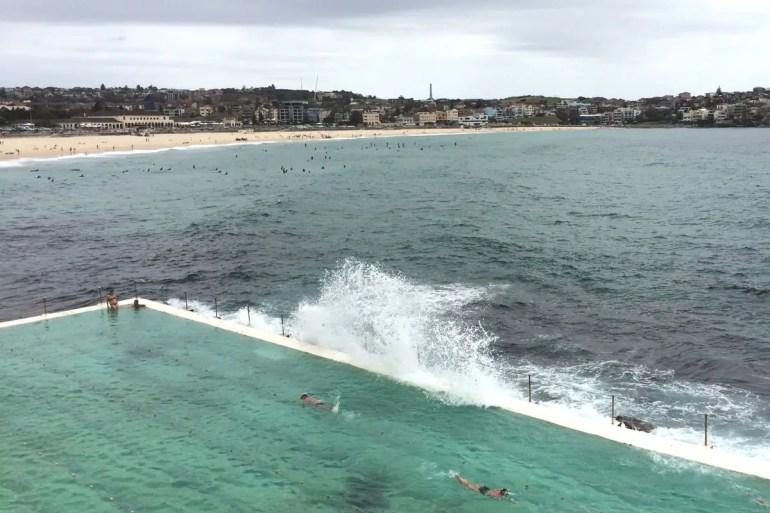 Schwimmbad am Meer am Bondi Beach