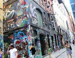 In der Hosier Lane gibt's Streetart ohne Ende