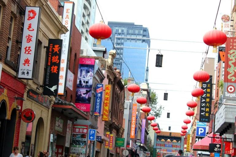 Melbournes Chinatown ist eines der ältesten chinesischen Viertel der Welt