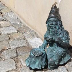 Zwerg in Breslau: Kleine Kaffeepause