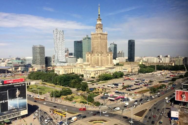Überragt die Hauptstadt von Polen: Warschaus Kulturpalast