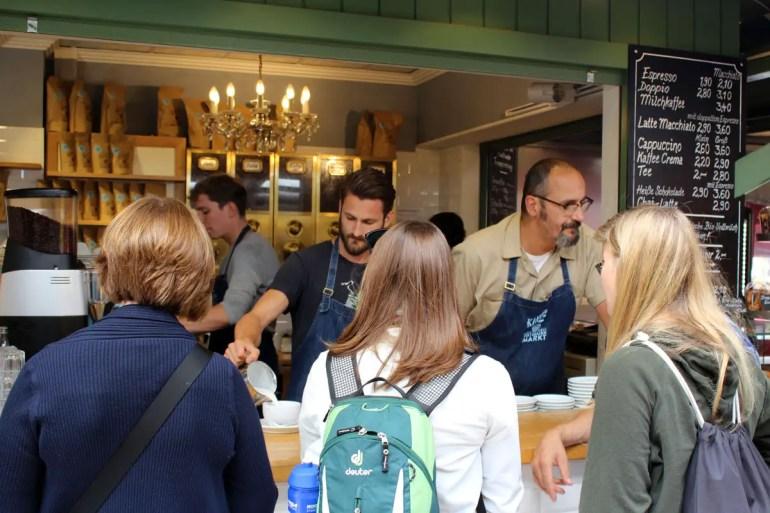 Richtig guten Kaffee gibt's bei der Kaffeerösterei Viktualienmarkt