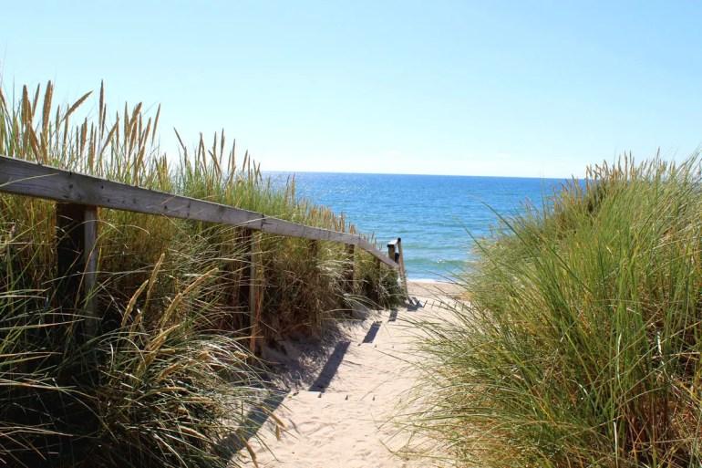 Durch die Dünen an den Strand