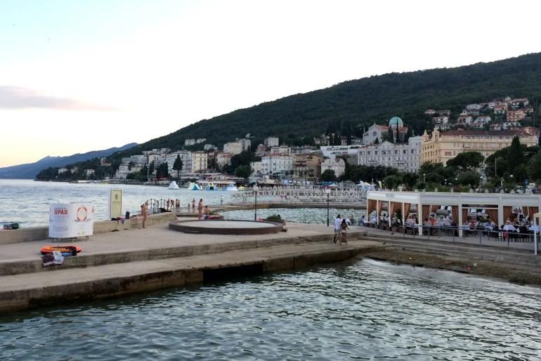 An der Promenade in Opatija sind einst auch Sisi und ihr Franz Josef spaziert