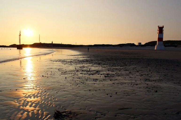 Abendstimmung am Südstrand auf der Helgoländer Düne