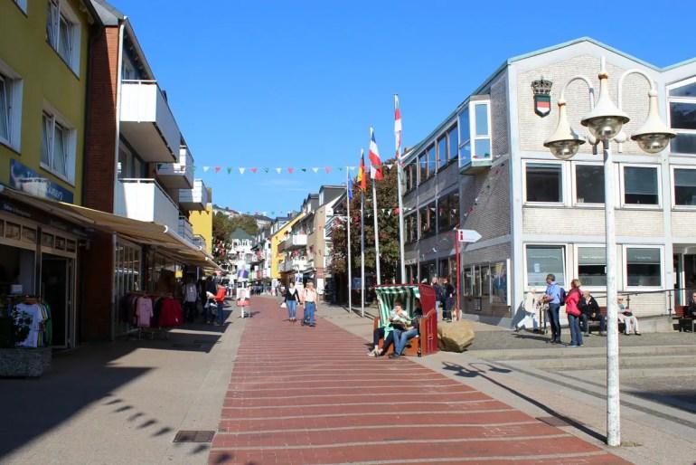 Der Lung Wai ist Helgolands Haupteinkaufsstraße