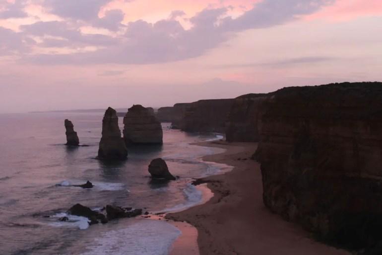 Besonders romantisch ist ein Sonnenuntergang an den 12 Aposteln