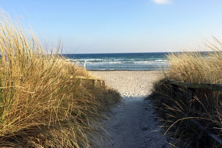 Auch im Winter schön: durch die Dünen ans Meer