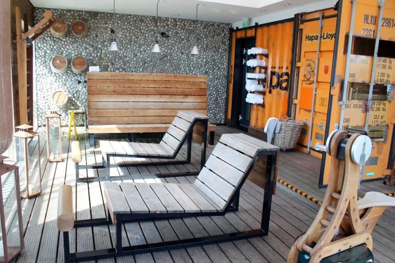 Das Higlight mit Elbblick: die Hafensauna im 25hours Hotel Hafencity