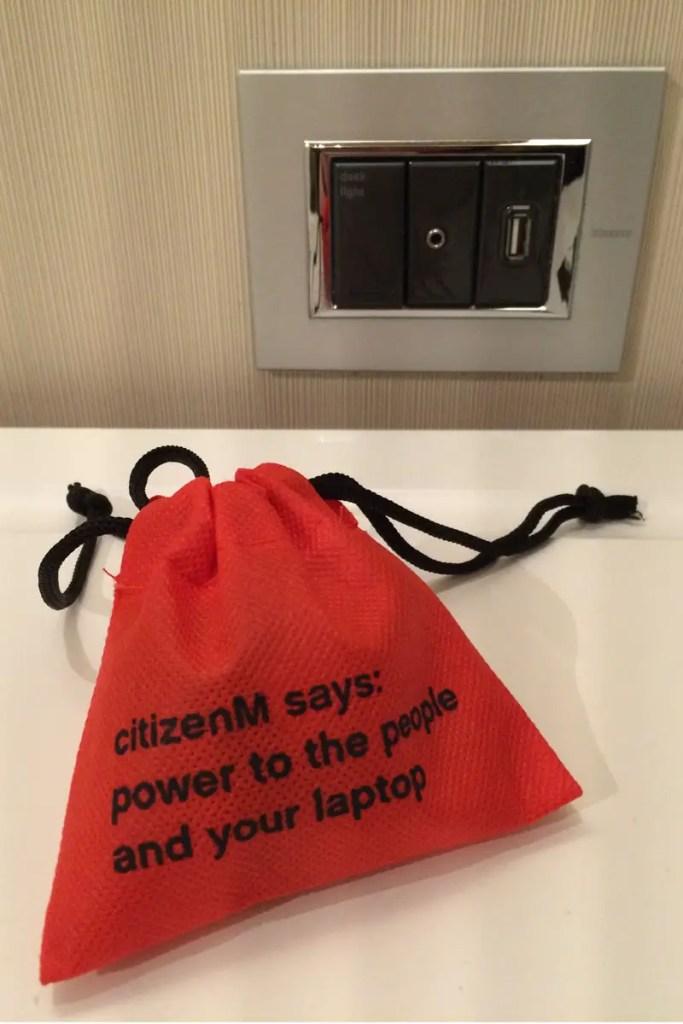 Nette Idee: der lustig verpackte Adapter in New York