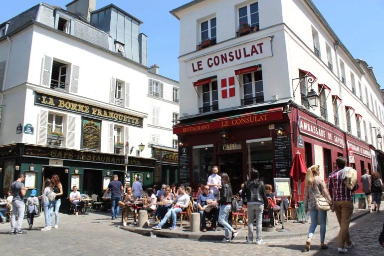 Restaurant und Treffpunkt mit Geschichte: das Le Consulat in Montmatre