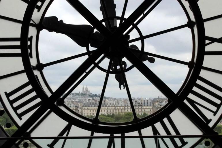 Durchs Uhrwerk im Musée d'Orsay hast du einen tollen Blick auf die Sacre Coeur
