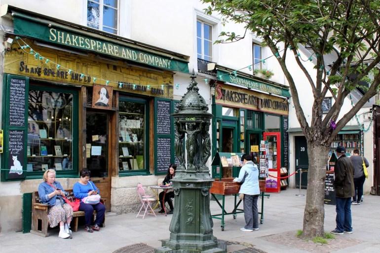 Shakespear and Company - eine der berühmtesten Buchhandlungen von Paris