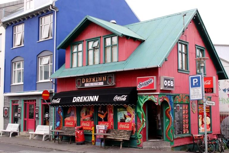 Bunte Häuser prägen das Bild in Islands Hauptstadt