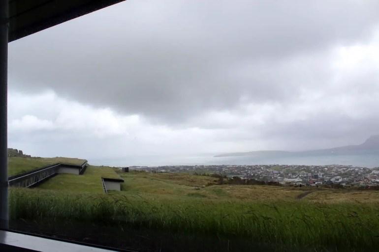 Ausblick vom Hotel Føroyar auf Tórshavn