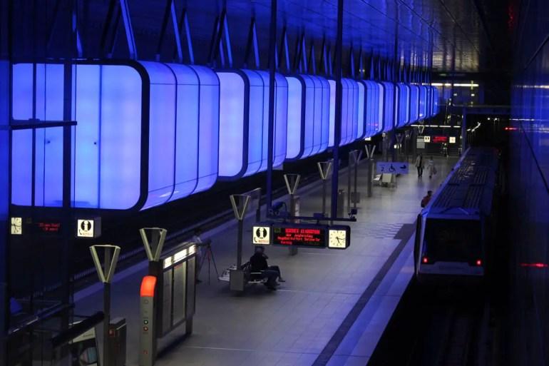 Ein unterirdisches Kunstwerk: die U-Bahn-Haltestelle der Hafencity Universität
