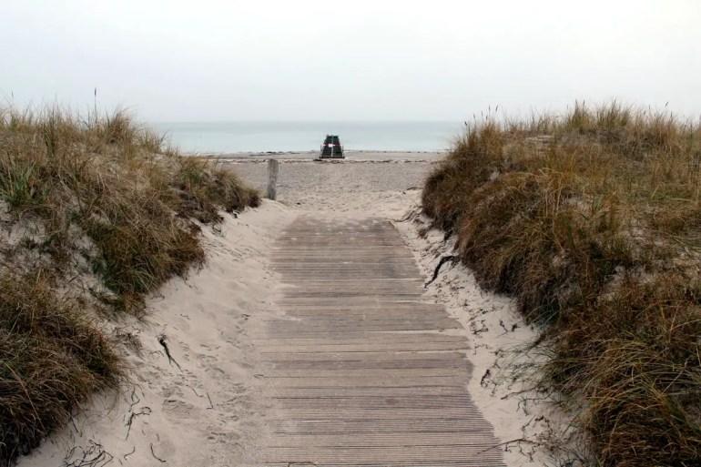 Fehmarns Südstrand ist Ende November im Winterschlaf